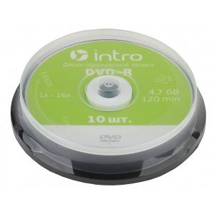 Intro DVD-R INTRO 16X 4,7GB  Cakebox 10 (10/300/10800)