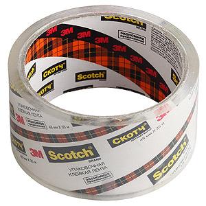 Клейкая лента Scotch  N2J Упаковочная эконом 48мм x 35м кристально прозрачная