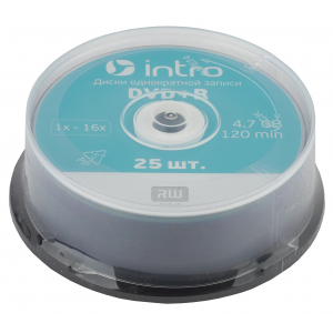 Intro DVD+R INTRO 16X 4,7GB  Cakebox 25 (25/300/14400)