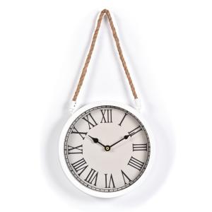 Innova Часы W08311, материал металл + крафт веревка, диаметр 22 см, цвет белый (4/240)