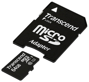 Transcend Micro SDXC 64 Gb Class 10 + adapt UHS-1 (25/5000)