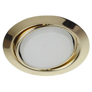 KL35 А GD Светильник ЭРА под лампу Gx53 поворотный, 220V, 13W, золото (20/40/960)