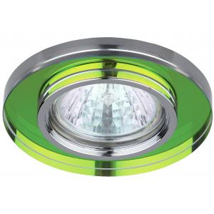 DK7 CH/MIX Светильник ЭРА декор стекло MR16,12V/220V, 50W, круглое хром/мульти (50/1750)