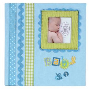 """Innova Q4403615M Фотоальбом 180 фото 10*15 """"Детские воспоминания голубой"""" в подарочной упаковке, кар"""