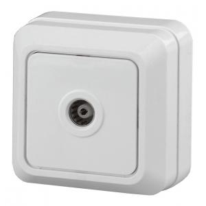 2-301-01 Intro Розетка TV одиночная, IP20, ОУ, Quadro, белый (10/200/3600)