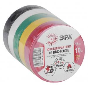 ЭРА ПВХ-изолента 15мм*10м  5цветов (5/500/12000)
