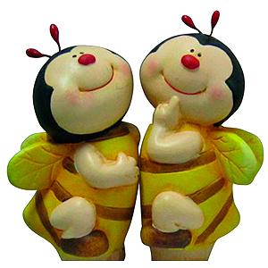 GKS122-01 GREEN APPLE Ороситель декоративный Пчелка 5*4*14.5 (12/144/1152)