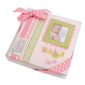 """Innova Q4403614M Фотоальбом 180 фото 10*15 """"Детские воспоминания розовый"""" в подарочной упаковке, кар"""