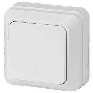 2-101-01 Intro Выключатель, 10А-250В, IP20, ОУ, Quadro, белый (10/200/3600)