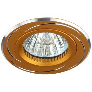 KL34 AL/GD Светильник ЭРА алюминиевый MR16,12V/220V, 50W золото/хром (50/2250)