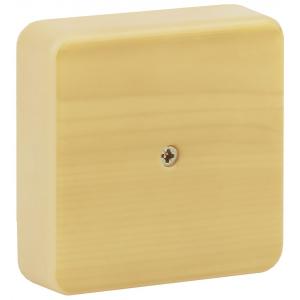ЭРА Коробка распаячная 100х100х30 (без клеммы) сосна IP40 ЭРА (50/1500)