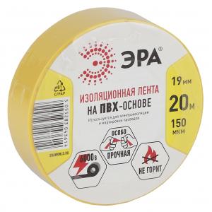 ЭРА ПВХ-изолента 19мм*20м желтая (10/200/6400)