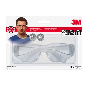 Очки защитные 3М  71512-00000М открытые Virtua A прозрачные линзы с покрытием против царапин 1 шт