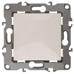 12-1001-02 ЭРА Выключатель, 10АХ-250В, IP20, без м.лапок, Эра12, слоновая кость (10/100/3200)