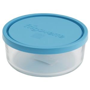 Bormioli Rocco FRIGOVERRE Контейнер круглый D15 см (900 мл) с синей крышкой (12/480)