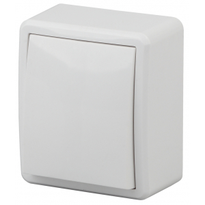 11-1201-01 ЭРА Выключатель, 10АХ-250В, IP20, ОУ, Эра Эксперт, белый (16/160/3200)