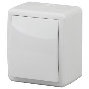11-1401-01 ЭРА Выключатель IP54, 10АХ-250В, ОУ, Эра Эксперт, белый (16/160/2560)