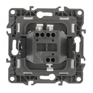 12-1101-05 ЭРА Выключатель, 10АХ-250В, IP20, Эра12, антрацит (10/100/3200)
