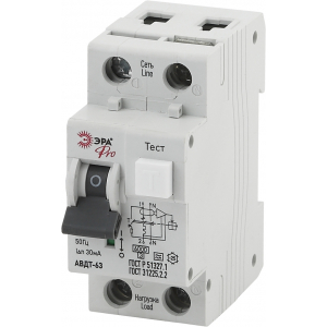 ЭРА Pro Автоматический выключатель дифференциального тока NO-901-82 АВДТ 63 C16 30мА 1P+N тип A (90/