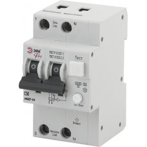 ЭРА Pro Автоматический выключатель дифференциального тока NO-902-04 АВДТ 63 C50 30мА 1P+N тип A (60/