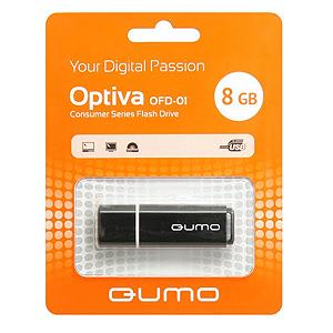 Флэш-диск QUMO 08 Gb Optiva-01 Black (25/7500)