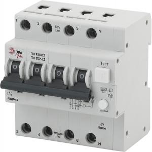 ЭРА Pro Автоматический выключатель дифференциального тока NO-901-96 АВДТ 63 3P+N C16 30мА тип A (30/