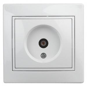 1-301-01 Intro Розетка TV одиночная, IP20, СУ, Plano, белый (10/200/2400)