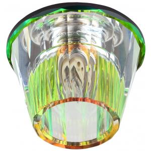 "DK43 MIX/WH Светильник ЭРА декор ""бокал"" G9,220V, 40W, мультиколор/прозрачный (30/900)"