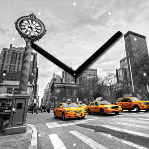 "Innova Часы W09659 ""Такси"", квадратные, стекло, размер 30*30 см (10/120)"