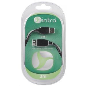 USB 3004101 Кабели_25 Intro USB 2.0, штекер-гнездо, длина-3м (20/40/800)