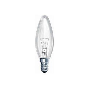 КАЛАШНИКОВО ДС (B36) 40Вт 230-240V E14 свечка, прозр. в цветной гофре (100/6000)