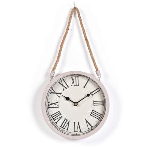 Innova Часы W08310, материал металл + крафт веревка, диаметр 22 см, цвет темно серый (4/240)