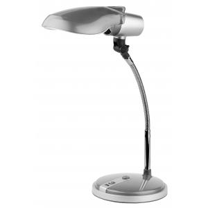 ЭРА наст.светильник NE-301-E27-15W-S серебро (12/72)