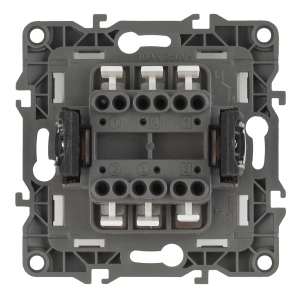 12-1104-04 ЭРА Выключатель двойной, 10АХ-250В, IP20, Эра12, шампань (10/100/3200)