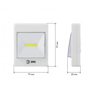 SB-606 Фонарь ЭРА пушлайт кликер [COB, 3xAAA, скотч, бл] (10/60/1440)