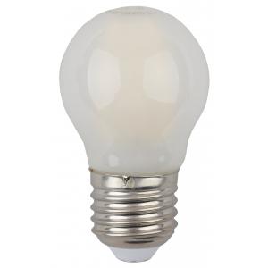 F-LED P45-5W-827-E27 frost ЭРА (филамент, шар мат., 5Вт, тепл, E27) (10/100/3000)