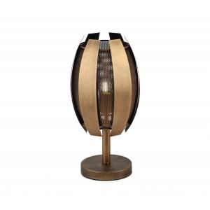 4035-501 Rivoli Настольная лампа Diverto P1 античная бронза E27*1  40W (6/24)