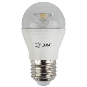 LED P45-7W-840-E27-Clear ЭРА (диод,шар,7Вт,нейтр,E27) (10/100/3000)