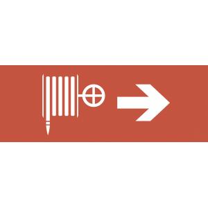 "INFO-DBA-011 ЭРА Самоклеящаяся этикетка 200х60мм ""Пожарный кран/стрелка направо"" DPA/DBA (5/20000)"