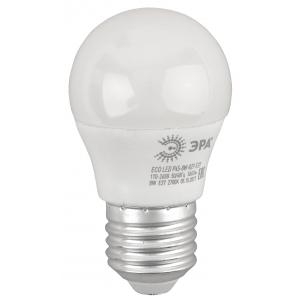 ECO LED P45-8W-827-E27 ЭРА (диод, шар, 8Вт, тепл, E27) (10/100/4200)