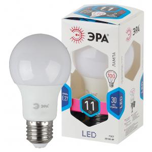 LED A60-11W-840-E27 ЭРА (диод, груша, 11Вт, нейтр, E27) (10/100/1500)