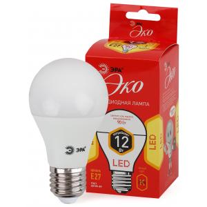 ECO LED A60-12W-827-E27 ЭРА (диод, груша, 12Вт, тепл, E27) (10/100/1500)