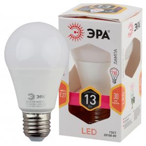 LED A60-13W-827-E27 ЭРА (диод, груша, 13Вт, тепл, E27) (10/100/1200)