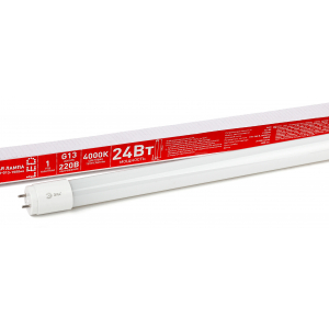 ECO LED T8-24W-840-G13-1500mm ЭРА (диод,трубка стекл,24Вт,нейтр,непов. G13) (30/840)