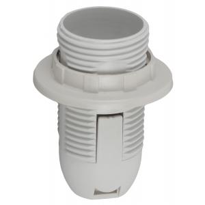 ЭРА Патрон Е14 с кольцом,пластик, белый (50/400/9600)