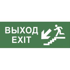 """INFO-DBA-013 ЭРА Самоклеящаяся этикетка 200х60мм """"Выход/лестница вниз/фигура"""" DPA/DBA (5/20000)"""