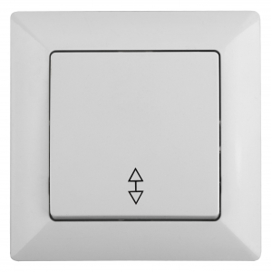 4-103-01 Intro Переключатель, 10А-250В, СУ, Solo, белый (10/200/2400)
