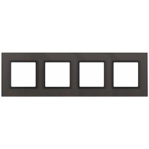 14-5104-32 ЭРА Рамка на 4 поста, стекло, Эра Elegance, серый+антр (5/25/900)