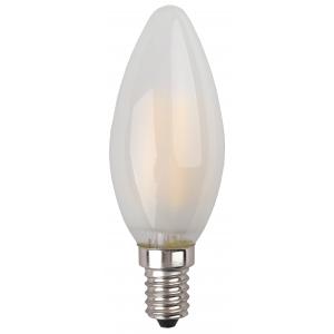 F-LED B35-5W-827-E14 frost ЭРА (филамент, свеча мат., 5Вт, тепл, E14) (10/100/2800)