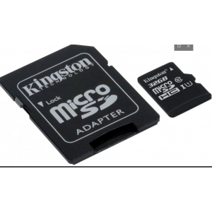 Kingston Micro SDHC 32 Gb Class 10 U1 A1 UHS-I, 100MB/s  Canvas Select Plus + SD Adapter